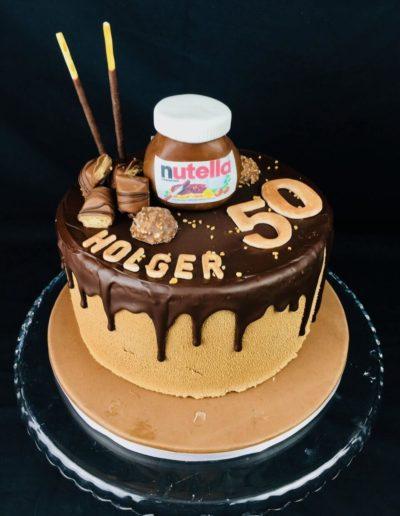 Geburtstagstorten Da Rino Bottrop mit Nutella und Süßigkeiten