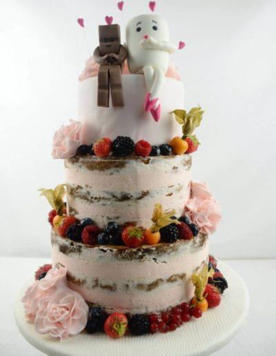 Hochzeitstorten Da Rino Bottrop naked Frucht