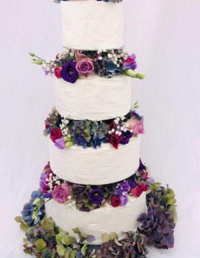 Hochzeitstorten Da Rino Bottrop vier stöckig mit Rosen