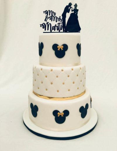 Hochzeitstorten Da Rino Bottrop weiss Micky und Minnie Mouse