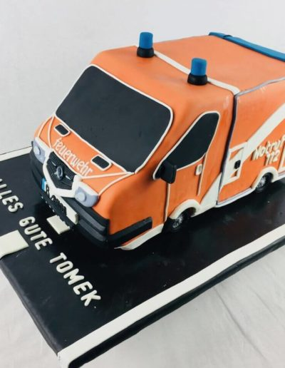 Motivtorten Da Rino Bottrop Feuerwehr Auto