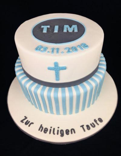 Torten Da Rino Bottrop zur Taufe zwei stöckig Junge