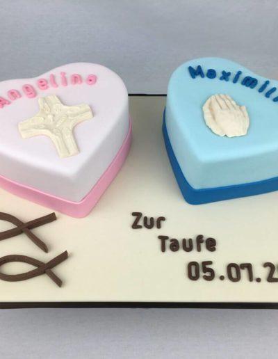 Torten Da Rino Bottrop zur Taufe Zwillinge