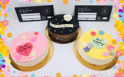 Muttertagsgeschenk: Kleine Torte und Frühstücksgutschein