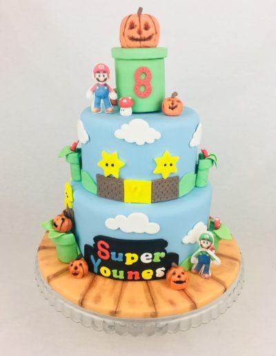 Halloween Torte Super Mario