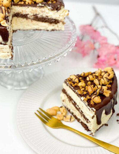 Da Rino Snickers Kuchen angeschnitten